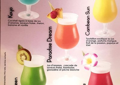 carte cocktail sans alcool